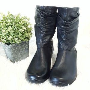 Dansko black leather boots 39 mid calf